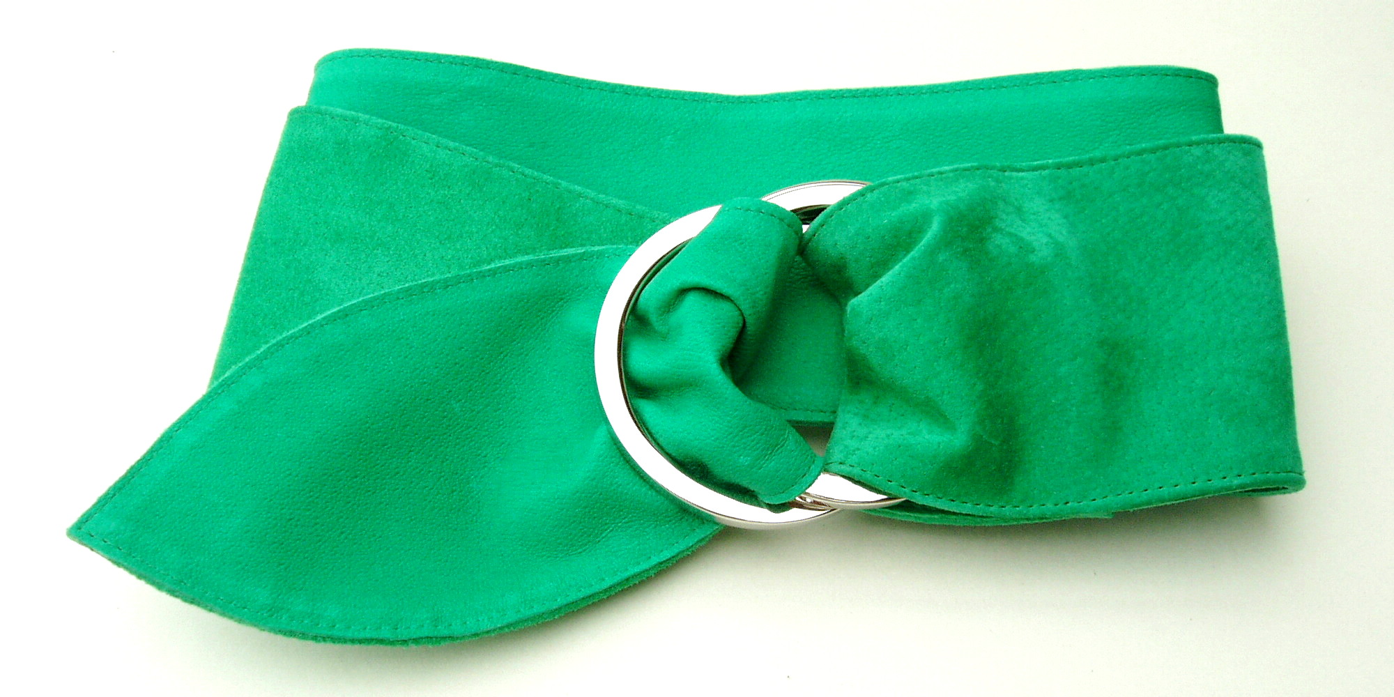 Emerald Green Suede Ring Belt