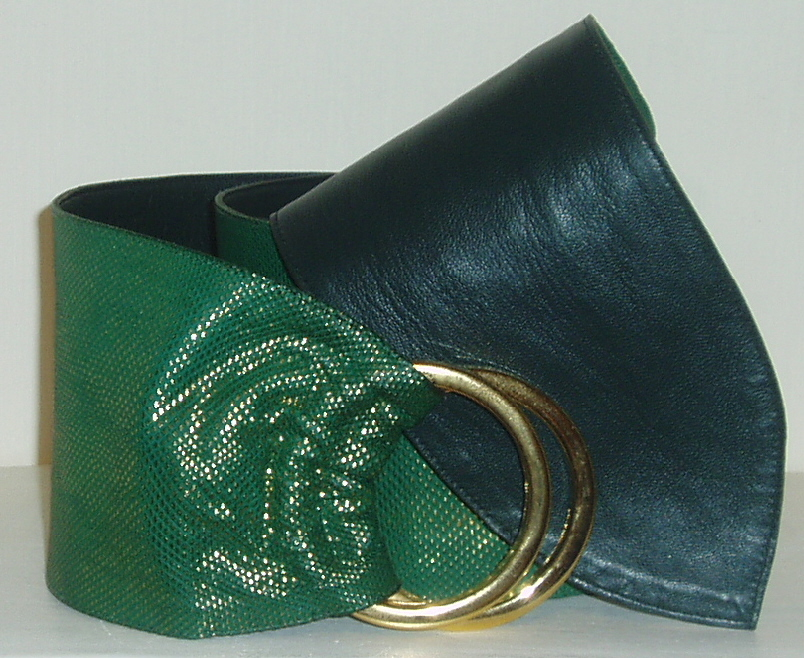 Green and Gold Karung Snakeskin