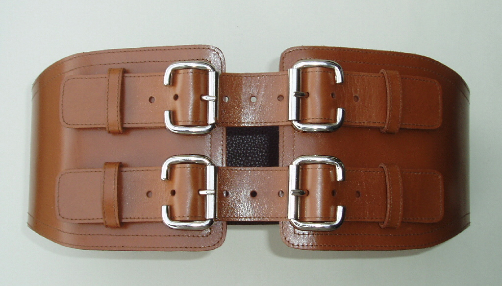 TS1 Tan Leather Corset Belt