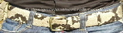 50mm mens python snakeskin belt