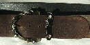 wide brown leather belt