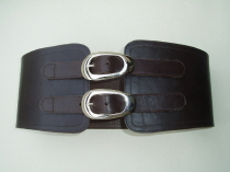 BrS1 Brown Leather Corset Belt  SOLD