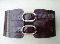 PBS1 Patent Lizard Print Leather Corset Belt SOLD