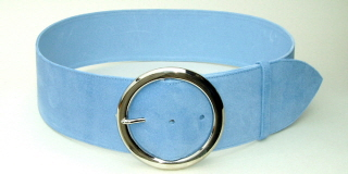 Pale Blue Suede Belt