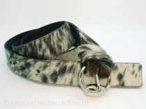Tricolour Hair Cowhide Belt - 38mm - 45