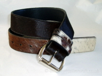 Tricolour Hair Cowhide Belt - 40mm - 40 inch