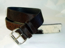 Tricolour Hair Cowhide Belt - 40mm - 42 inch