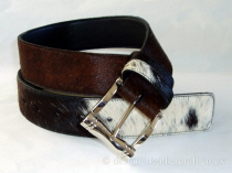 Tricolour Hair Cowhide Belt - 40mm - 42 inch B