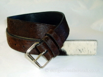 Tricolour Hair Cowhide Belt - 40mm - 44 inch B
