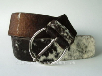 Tricolour Hair Cowhide Belt - 62mm - 44 inch